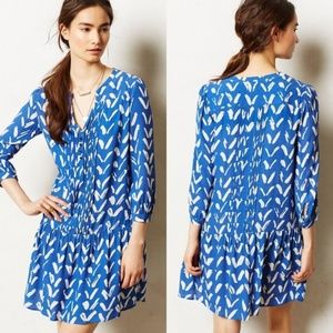 MAEVE Drop Waist Caravane Tunic Dress - Blue Print